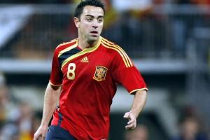 Xavi Hernández, en un partido de la Eurocopa 2008 con España.