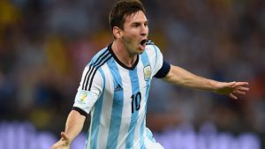 Messi celebra un gol con Argentina Fuente: bbc.co.uk