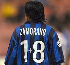Iván Zamorano luciendo su legendario dorsal 1+8 con el Inter Fuente: historias-del-realmadrid.blogspot.com
