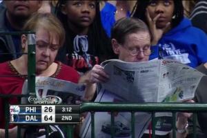 Esto sucede, hoy día, en algún partido de los 76ers.