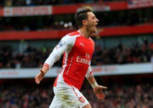 Özil celebrando un gol. islingtongazette.co.uk