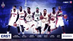 Reservas Conferencia Este. Los seleccionados para el All Star NBA 2016