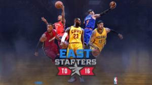 Conferencia Este quinteto titular. Los seleccionados para el All Star NBA 2016