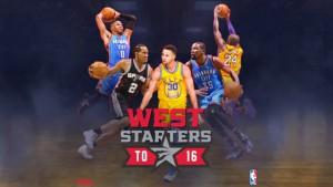 Conferencia Oeste quinteto titular. Los seleccionados para el All Star NBA 2016