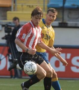 Gurpegui el día de su debut con el Athletic. elcorreo.com