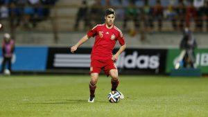 Marco Asensio disputando un amistoso con la selección Sub-21. (Vía As.com)