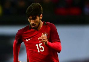 André Gomes con la selección de Portugal. Fuente: goal.com