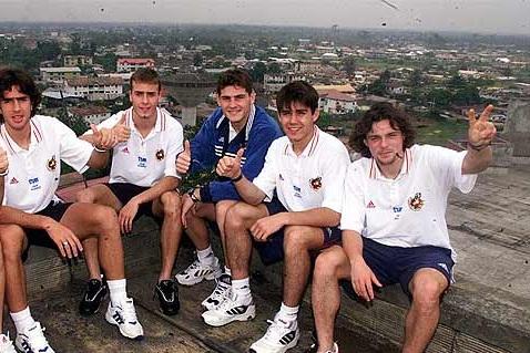Couñago, Yeste, Casillas, Aganzo y Álex en el Mundial. Vía: juanfutbol.com