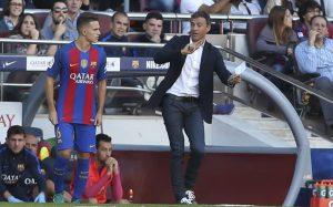 Denis Suárez con un Luis Enrique que confía mucho en él