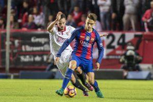 Denis Suárez ante el Sevilla CF con el FC Barcelona en Liga