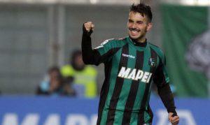 Nicola Sansone la temporada pasada con el Sassuolo italiano. Foto: UrbanSport.it