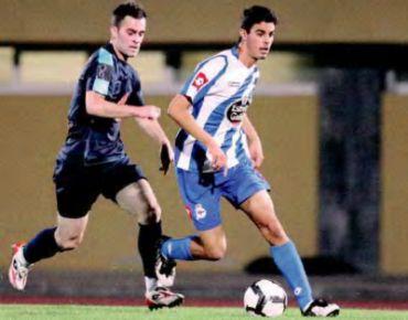 Juan Domínguez, el día de su debut no oficial con el 1º equipo del Deportivo. Entrevista a Juan Domínguez