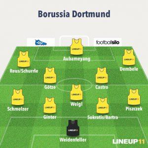 El once de Tuchel en el Borussia Dortmund