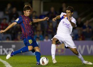 Sergi Roberto siempre jugó de interior o mediapunta en el FC Barcelona B antes de acabar jugando de lateral. Trayectoria Sergio Roberto